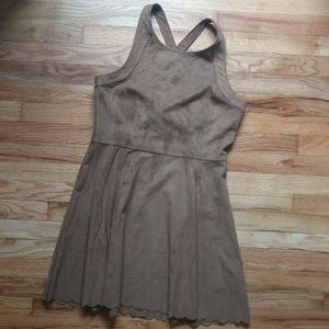 Express Suede Strap Dress Medium